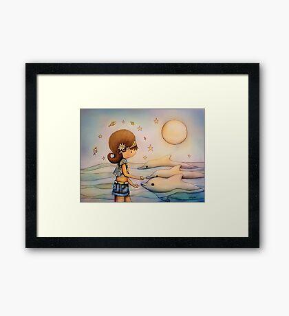 dolphin paradise Framed Print