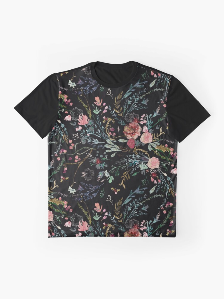 Alternate view of Midnight Floral Graphic T-Shirt