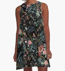 Midnight Floral A-Line Dress