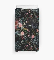 Midnight Floral Duvet Cover