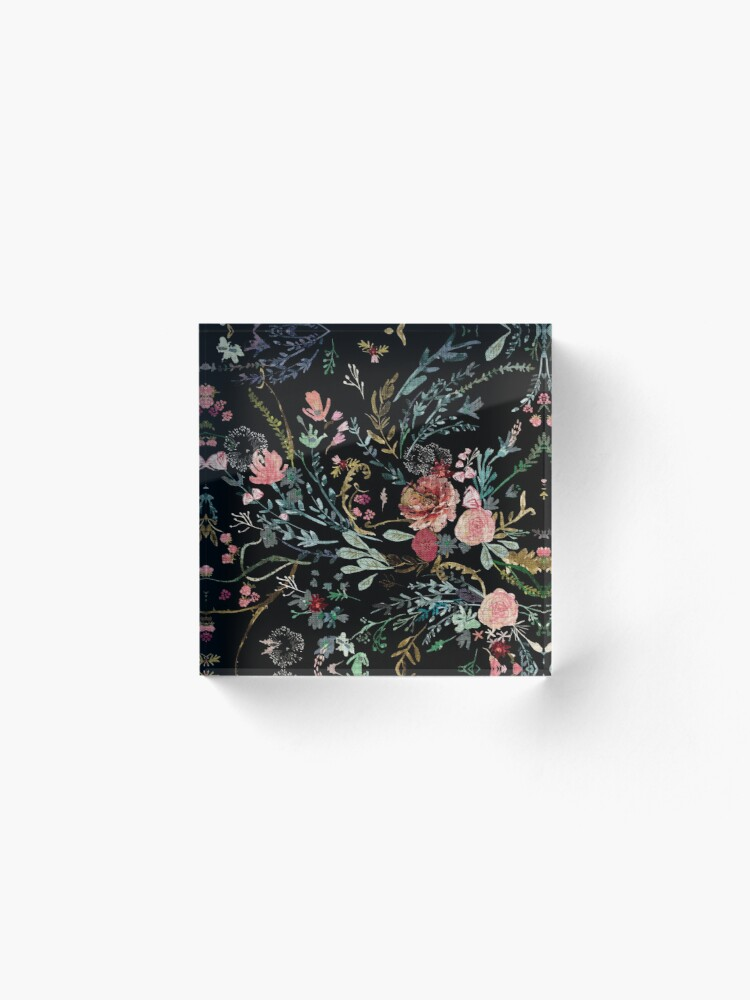 Alternate view of Midnight Floral Acrylic Block