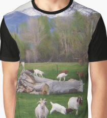 Goats on a Log Graphic T-Shirt