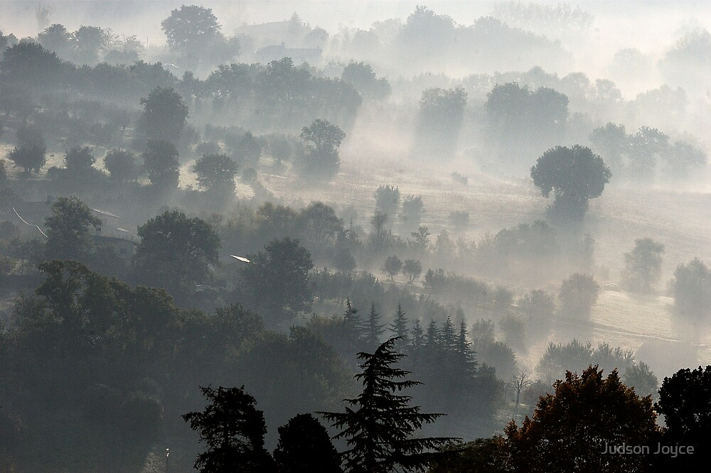 Fog Over Perugia Italy by Judson Joyce