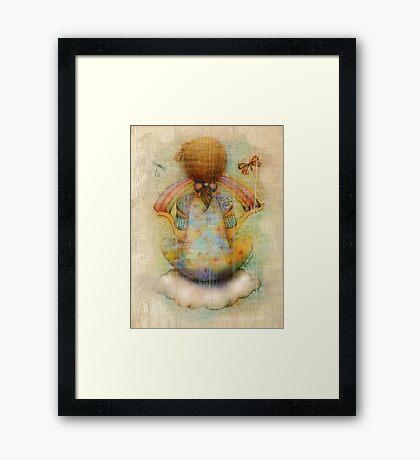 once upon a rainbow Framed Print