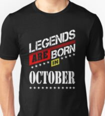 Legends are born in October T-shirt collection Unisex T-Shirt