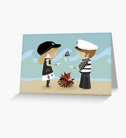 Toasting Marshmallows Greeting Card