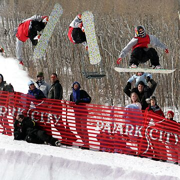 Flying Snowboarder by JudsonJoyce