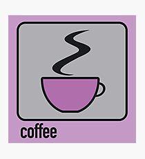 coffee purple Photographic Print