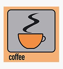 coffee orange Photographic Print