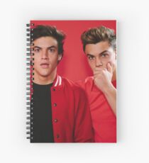Dolan Twins Red Spiral Notebook