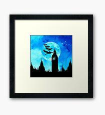 Magical Watercolor Night - Peter Pan Framed Print