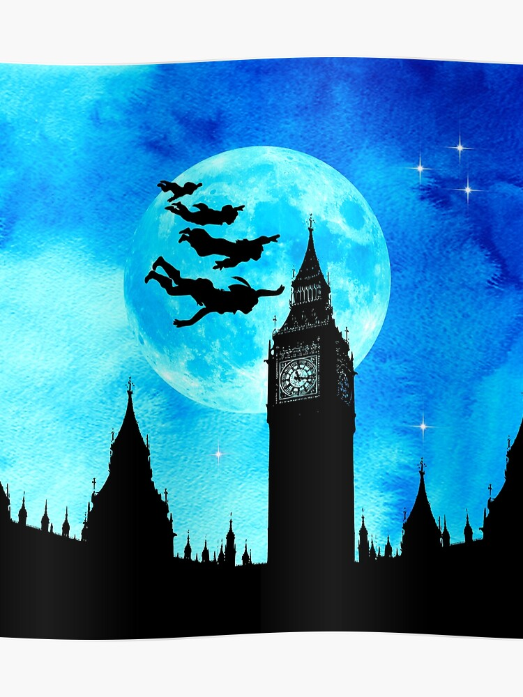 3c9e3303de7de Magical Watercolor Night - Peter Pan   Poster