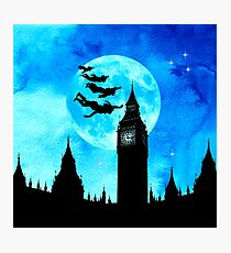 Magical Watercolor Night - Peter Pan Photographic Print