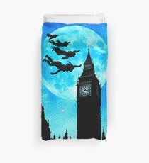 Magical Watercolor Night - Peter Pan Duvet Cover