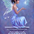 Opalite Fairy with Glowing Butterfly by Rachel Anderson