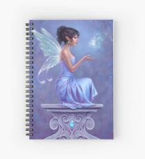 Opalite Fairy with Glowing Butterfly Spiral Notebook