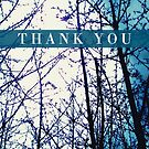 Thank You Branches in Blue by EvePenman