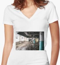 candy factory 7 Women's Fitted V-Neck T-Shirt