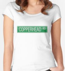 008 Copperhead Road street sign Women's Fitted Scoop T-Shirt