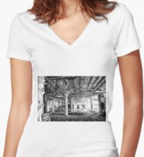 candy factory 9 Women's Fitted V-Neck T-Shirt