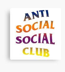 Anti Social Social Club Gradient Design Canvas Print
