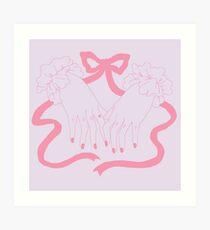 too soft - pink Art Print