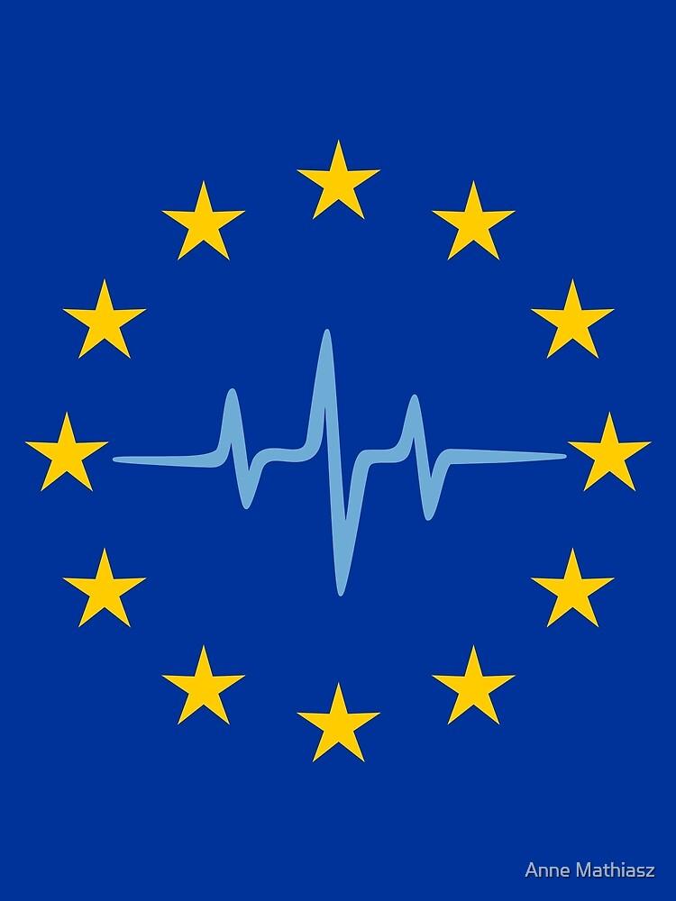 Pulse of Europe, heartbeat, EU stars, flag, European Union, frequency by boom-art
