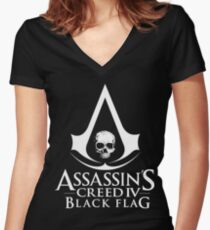 Assassin's Creed Black Flag Women's Fitted V-Neck T-Shirt
