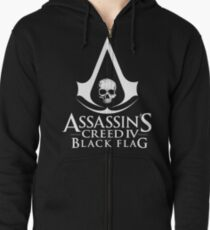 Assassin's Creed Black Flag Zipped Hoodie
