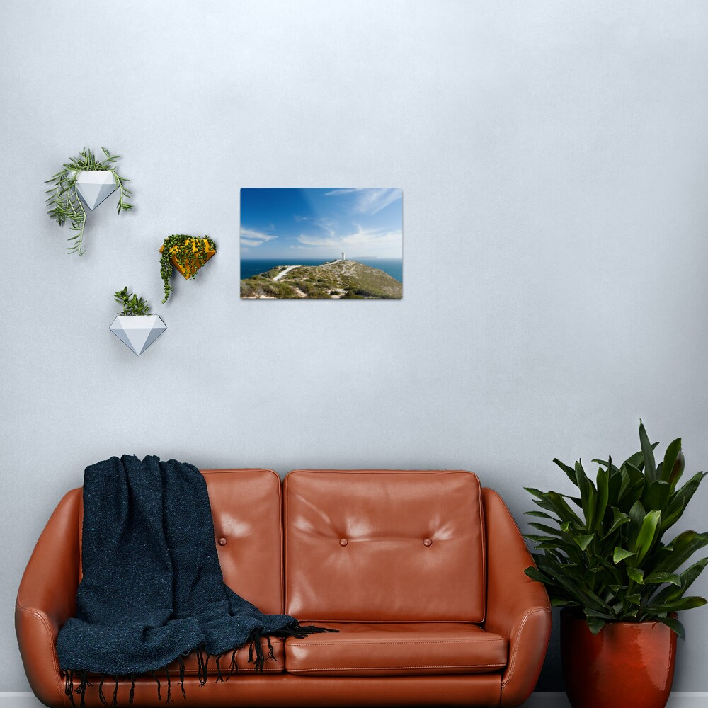 The Light on the Hill. Metal Print