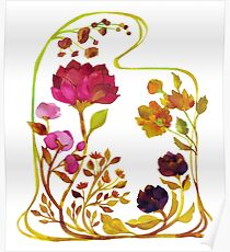 Ornamental Blooms Poster