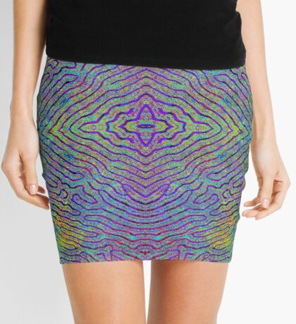 Life Lines - Mirrored Mini Skirt