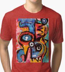 The king of snake Street Art Graffiti Tri-blend T-Shirt