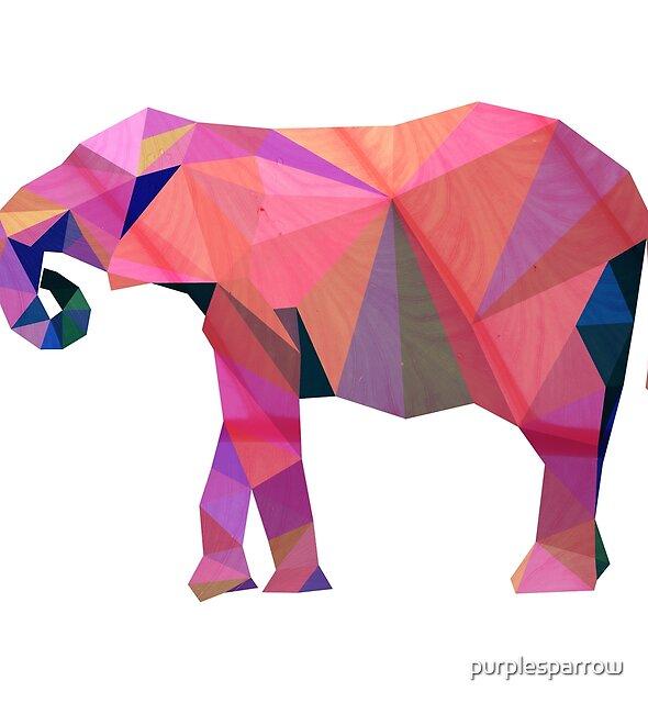 Geometric elephant by purplesparrow