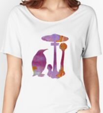 The Penguin And The Mushroom Women's Relaxed Fit T-Shirt