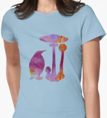 The Penguin And The Mushroom Womens Fitted T-Shirt