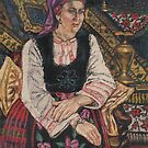 Woman in Bulgarian costume by Fiona O'Beirne
