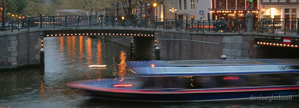 Amsterdam Canal Boat by denisegladwell