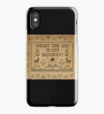 Smack My Stitch Up: Black Phillip iPhone Case/Skin