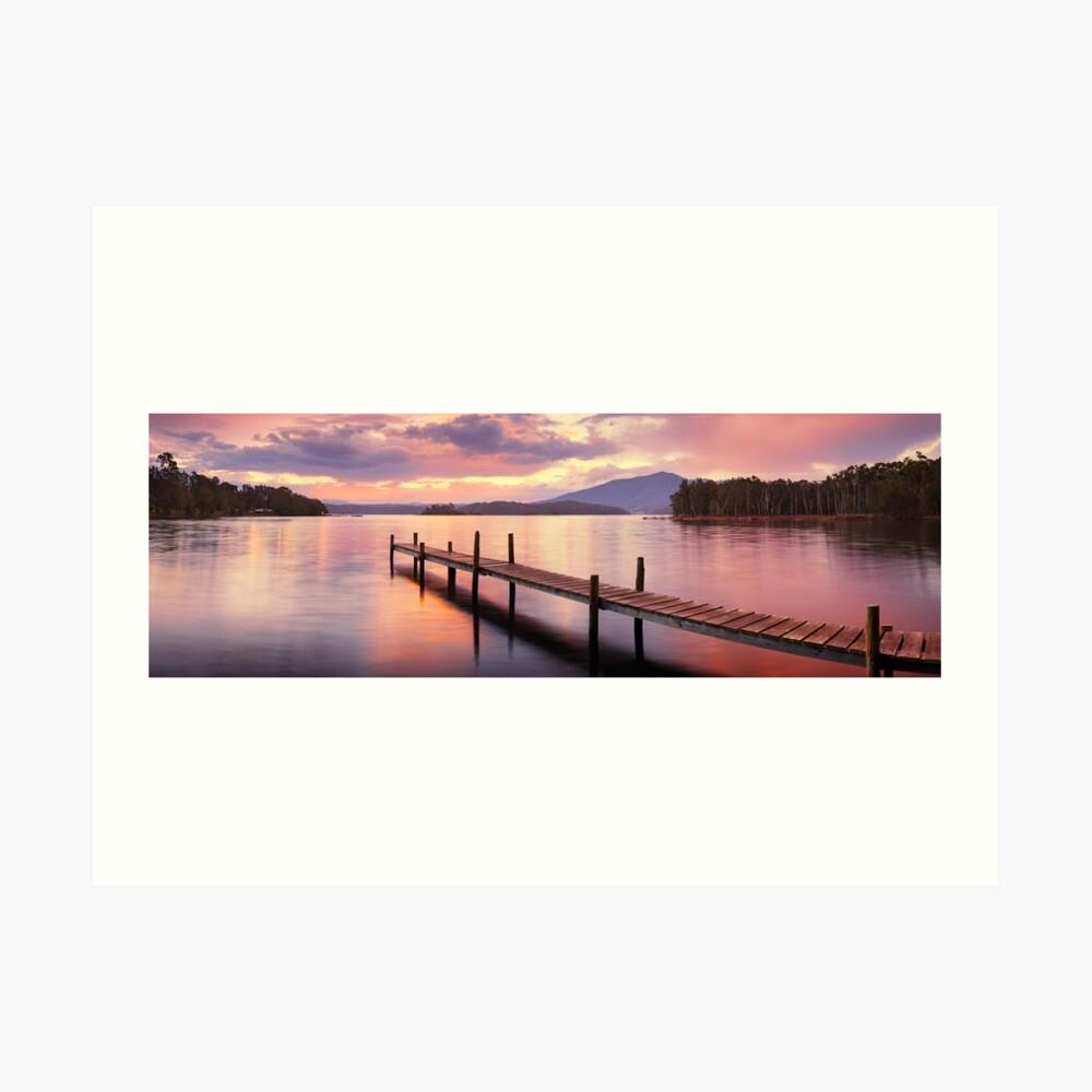 Lake Wallaga, Bermagaui, New South Wales, Australia Art Print