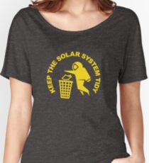 Keep the Solar System Tidy - Yellow Women's Relaxed Fit T-Shirt