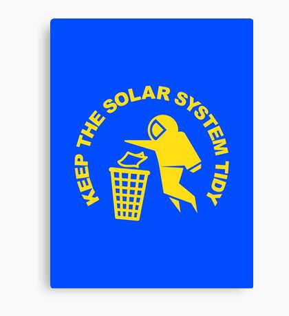 Keep the Solar System Tidy - Yellow Canvas Print