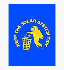Keep the Solar System Tidy - Yellow Photographic Print