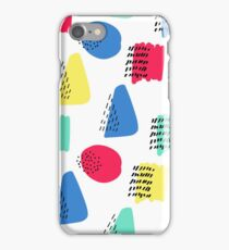 Colorful memphis cute pattern. Seamless hand drawn background. Vector illustration. iPhone Case/Skin
