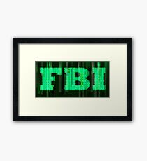 FBI Digital Matrix Framed Print