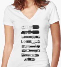 Weapons From A More Civilized Age Women's Fitted V-Neck T-Shirt
