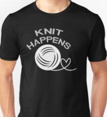 Knit Happens funny knitting  T-Shirt