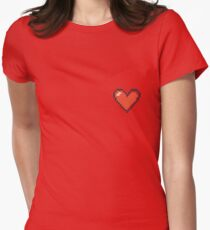 Pixelated Heart Womens Fitted T-Shirt