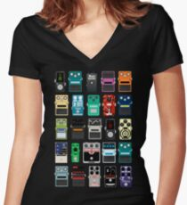 Pedal Board #2 Women's Fitted V-Neck T-Shirt