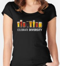 Celebrate Beer Diversity Funny Women's Fitted Scoop T-Shirt